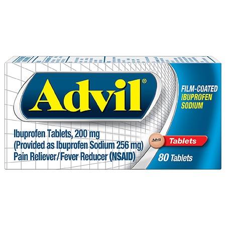 Advil Film-Coated Ibuprofen Sodium Tablets, 200mg - 20 ea