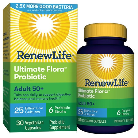 ReNew Life Ultimate Flora Adult 50+ Daily Probiotic 25 Billion, Delayed Release Capsules - 30 ea
