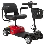 Mega Motion Rascal Travel 4 Wheel Scooter Red