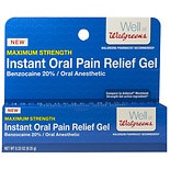 Walgreens Instant Oral Pain Relief Gel