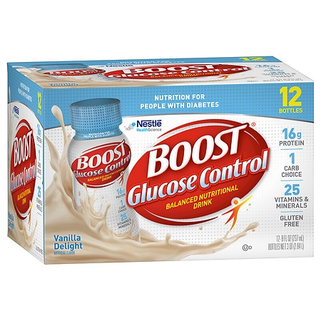 Boost Glucose Control Nutritional Drink Very Vanilla, 8 oz Bottles, 12 pk