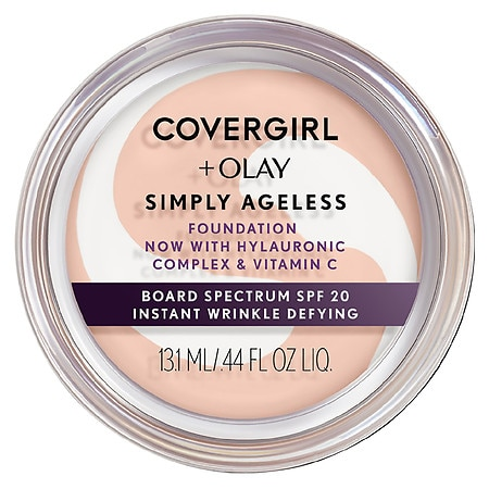 CoverGirl & Olay Simply Ageless Foundation + Titanium Dioxide Broad Spectrum SPF 28