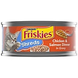 Friskies Savory Shreds Cat Food Chicken & Salmon
