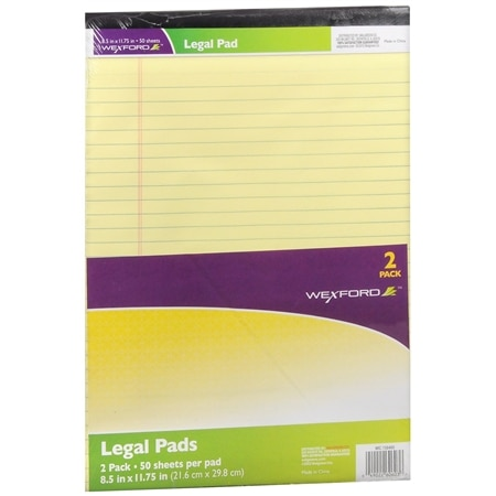 Wexford Legal Pads - 2 ea x 2 pack