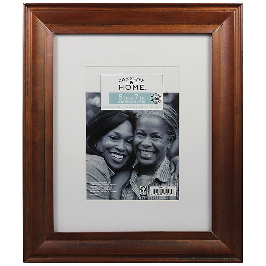 Home Elements Picture Frame 8 inch x 10 inch Brown | Walgreens