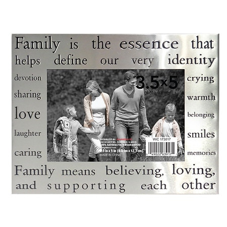 home elements picture frame 35 inch x 5 inch silver