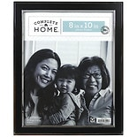Home Elements Picture Frame 8 inch x 10 inch Black/ Silver