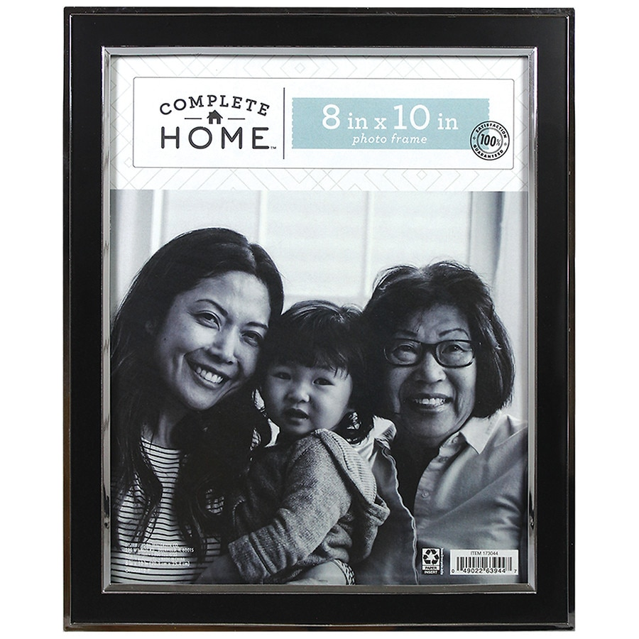 Home Elements Picture Frame 8 inch x 10 inch Black/Silver | Walgreens