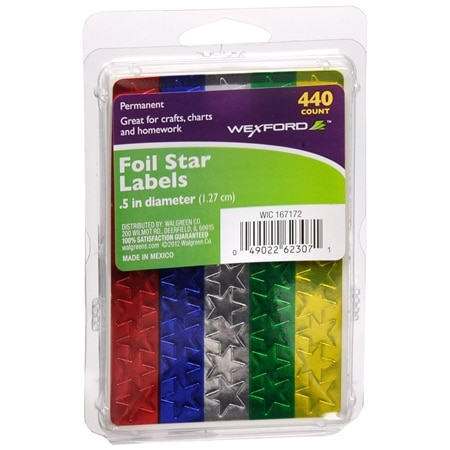 Wexford Star Labels Assorted