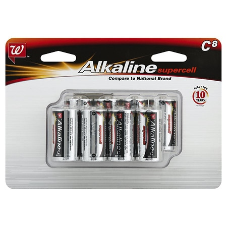 Walgreens Alkaline Supercell Batteries C - 8 ea