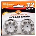 Walgreens Premium Zinc Air Hearing Aid Batteries 13