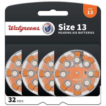 Walgreens Premium Zinc Air Hearing Aid Batteries 13 - 32 ea