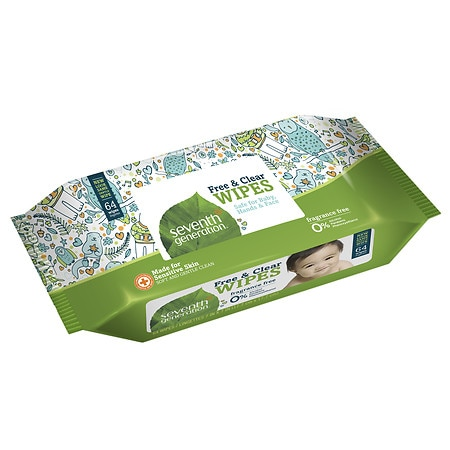 Seventh Generation Free & Clear Baby Wipes Free & Clear, 12 pk