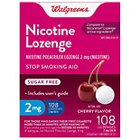 Walgreens Nicotine Lozenges 2mg Cherry