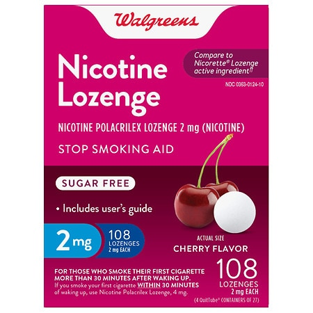 Walgreens Nicotine Lozenges 2mg Cherry - 108 ea