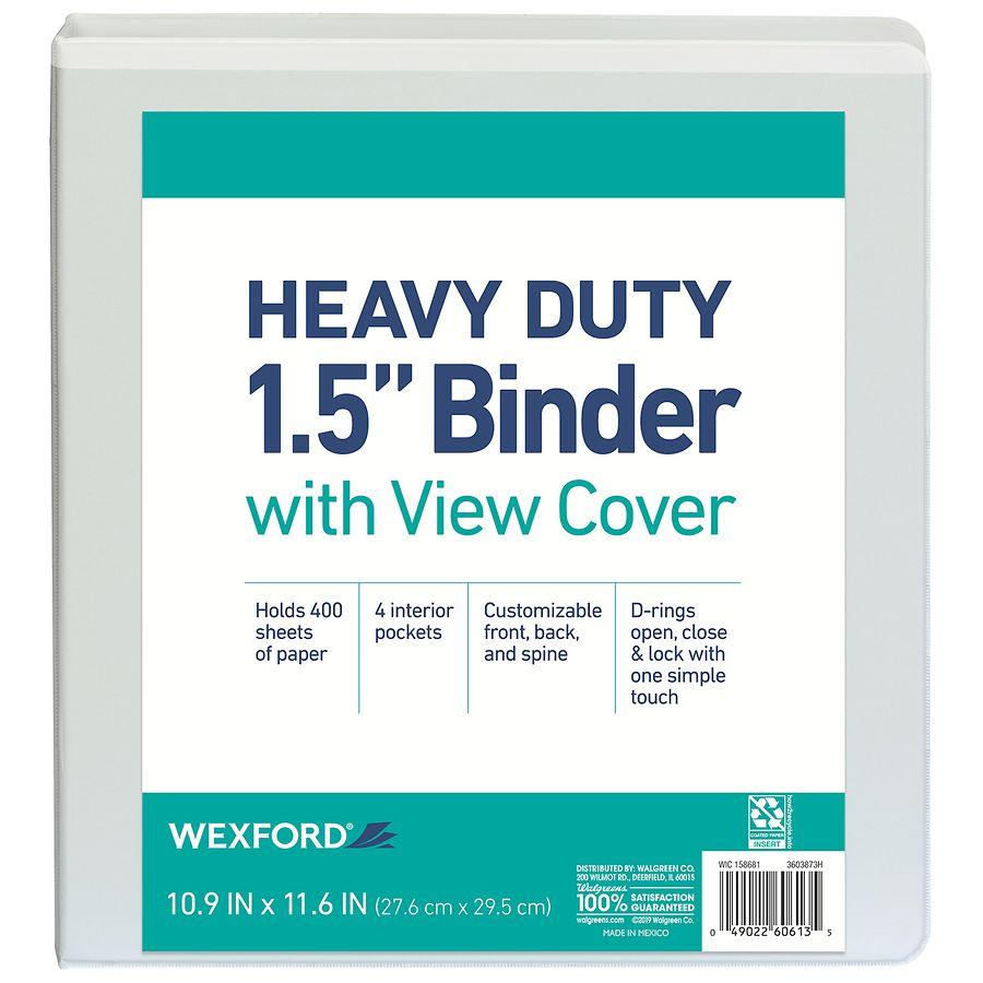 wexford view binder 1 5 inch assorted walgreens