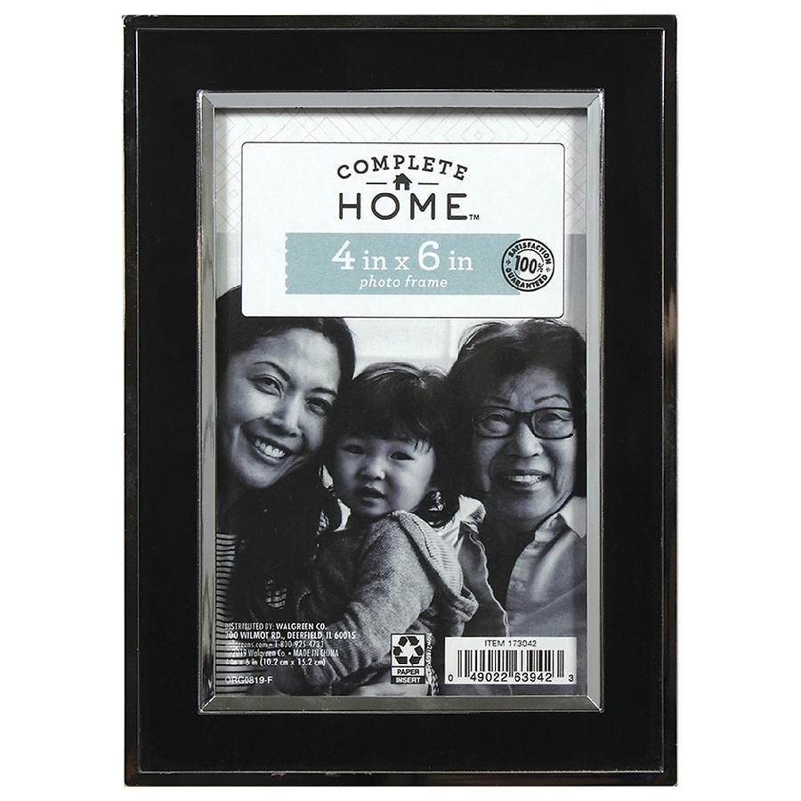 Home elements picture frame 4 inch x 6 inch blacksilver walgreens product large image jeuxipadfo Gallery