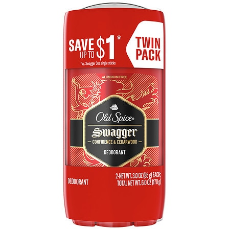 Old Spice Red Zone Red Zone Deodorant Solid Swagger - 3 ea x 2 pack