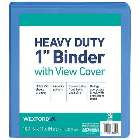 Wexford View Binder 1 inch Assorted