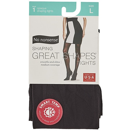 No Nonsense Great Shapes Opaque Shaping Tights Size L Large - 1 pr