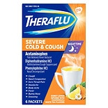 TheraFlu Nighttime Severe Cold & Cough Packets Honey Lemon Infused with Chamomile & White Tea