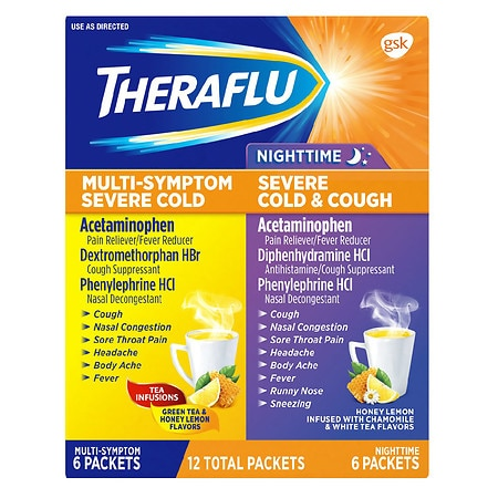 Theraflu Multi Symptom With Lipton Flavors Nighttime Severe Cold