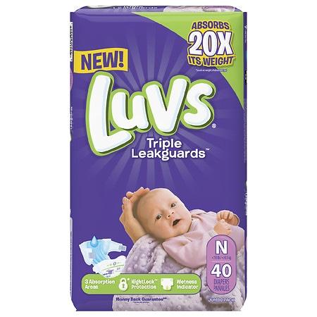Luvs Ultra Leakguards Newborn Diapers Size N - 40 ea