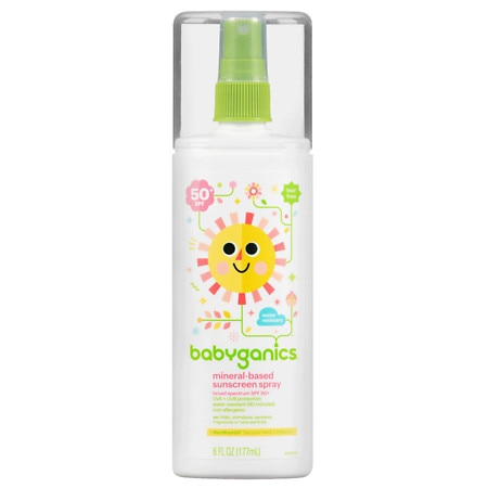Image of Babyganics Mineral Based Sunscreen Spray, SPF 50+ - 6 oz.