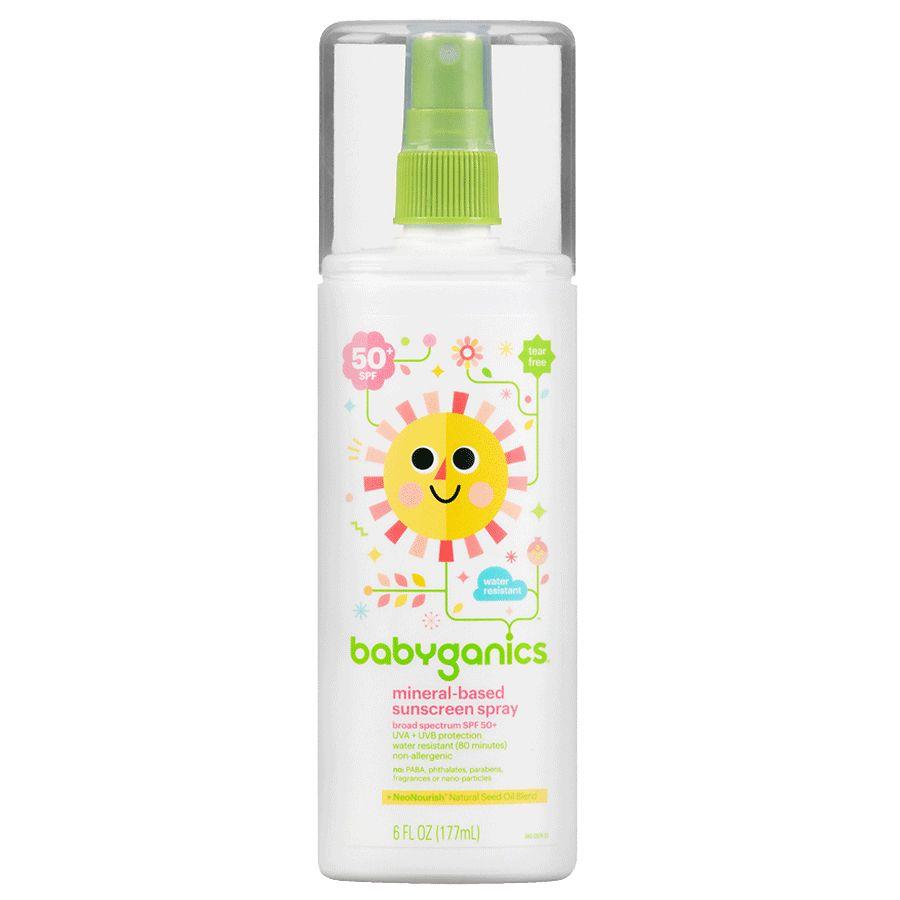 Babyganics Mineral Based Sunscreen Spray, SPF 50+
