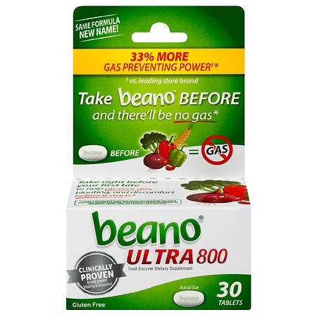 Beano Food Enzyme Dietary Supplement Tablets - 30 ea