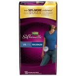 Depend Silhouette Incontinence Briefs for Women, Maximum Absorbency Large/ Extra Large