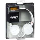 Sony Studio Monitor Sound & Style Stereo Headphones MDR-ZX100 White