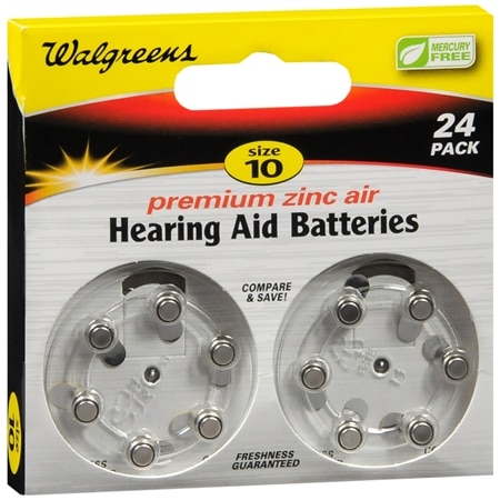 Walgreens Hearing Aid Batteries 10 - 24 ea