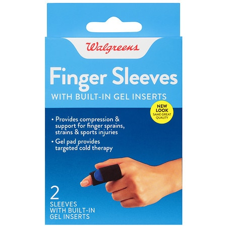 Walgreens Finger Sleeves with Built-In Gel Inserts - 2 ea