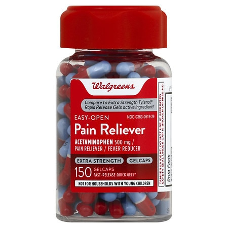 Walgreens Extra Strength Pain Reliever Gelcaps - 150 ea