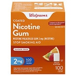 Walgreens Nicotine Gum, 2 mg Fruit