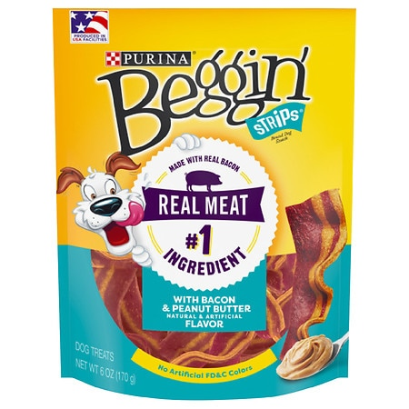 Beggin Strips Collisions Dog Snack Bacon & Peanut Butter - 6 oz.