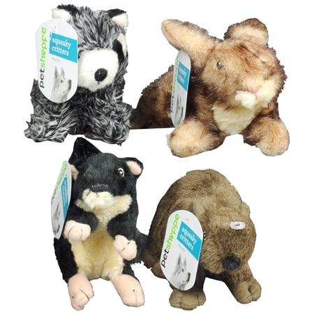 Pet Shoppe Squeaky Critters Dog Toy Assorted