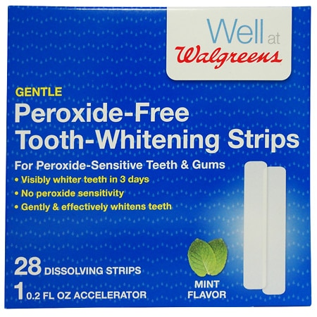 Walgreens Peroxide-Free Tooth-Whitening Strips Kit - 28 ea