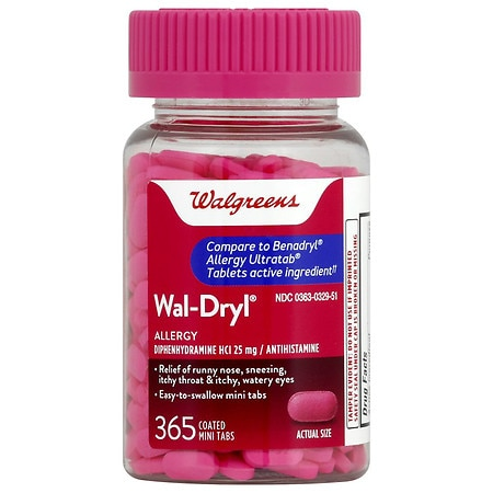 Walgreens Wal-Dryl Allergy Coated Mini Tabs -