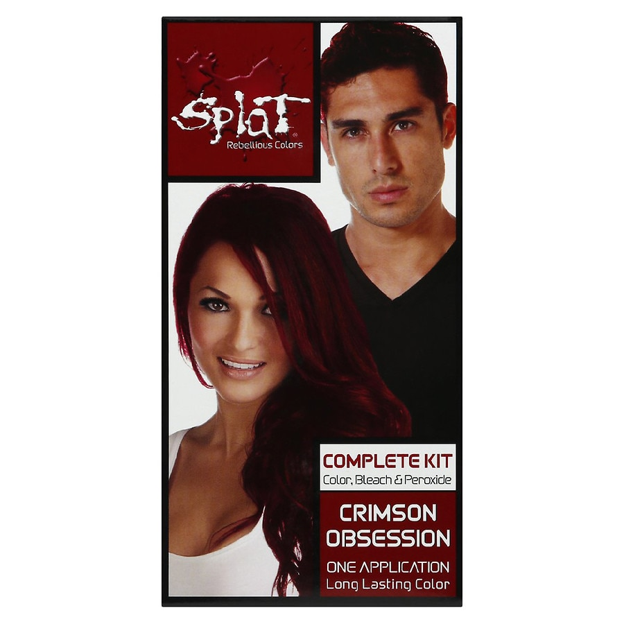 Splat Hair Color Complete Kit Crimson Obsession Walgreens
