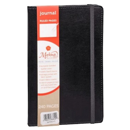 CR Gibson Genuine Bonded Leather Journal 240 Page Assorted