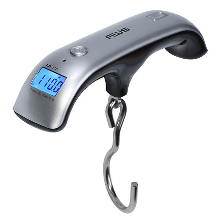 Image of American Weigh Luggage Scale Digital Backlit LCD Screen, Auto-Hold Feature LS-110 - 1 ea