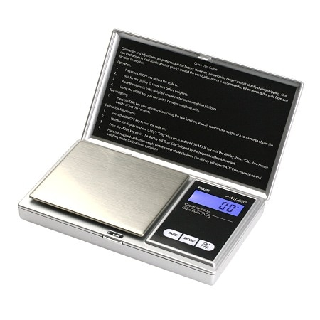 American Weigh SS Pocket Scale Back-Lit LCD Screen, Flip-Up Protective Cover AWS-100 - 1 ea