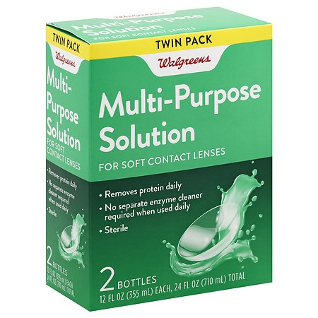 Walgreens Multi-Purpose Contact Lens Solution - 24.0 oz x 2 pack