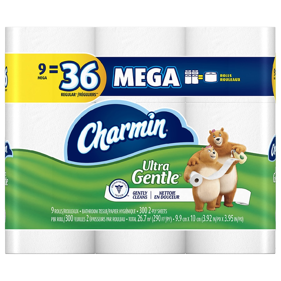 Charmin Sensitive Toilet Paper Mega Rolls Walgreens