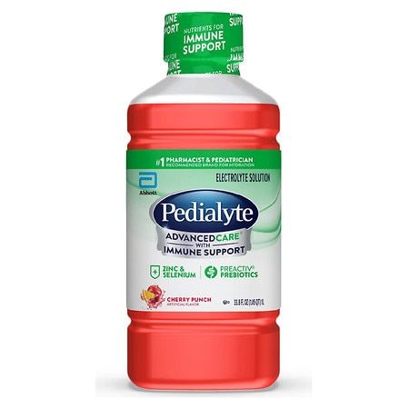 Pedialyte Advanced Care Electrolyte Solution Cherry Punch - 1 L