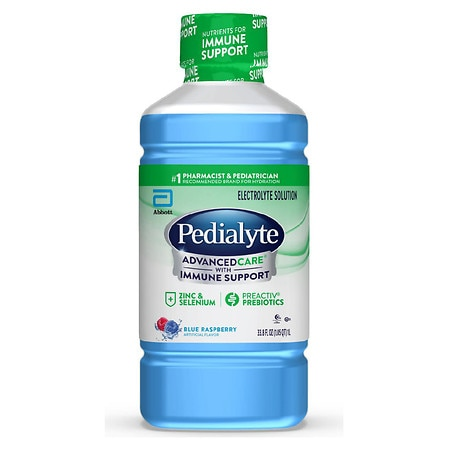 Pedialyte AdvancedCare Oral Electrolyte Solution Blue Raspberry - 1 L