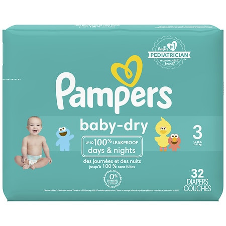 Pampers Baby Dry Diapers Size 3 Jumbo Pack Walgreens