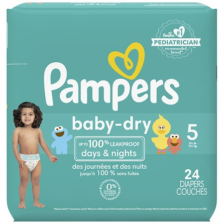 Limit of 4 total units per order. With Pampers Baby Dry diapers, your baby can get up to 12 hours of overnight protection, which helps him or her get the uninterrupted .